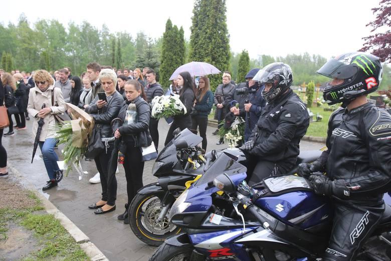 Pogrzeb motocyklisty z Sosnowca: 23-latek zginął w wypadku