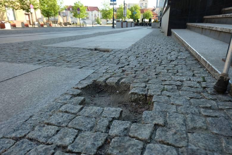 Rynek Kościuszki w Białymstoku do remontu. Miasto naprawi uszkodzoną nawierzchnię