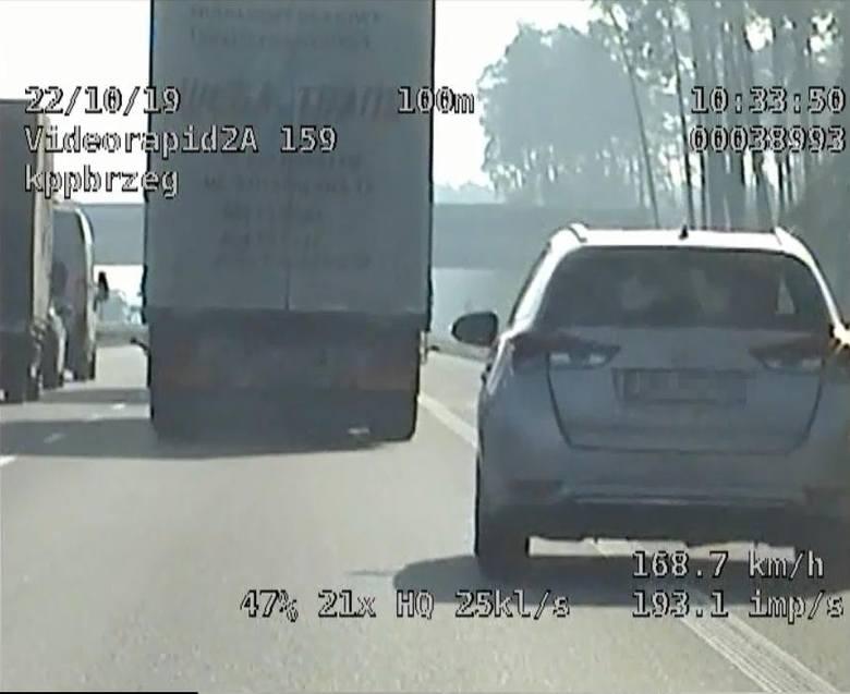 22-latek z Dolnego Śląska jechał prawie 200 km/h, nie zważając przy tym na innych uczestników ruchu.