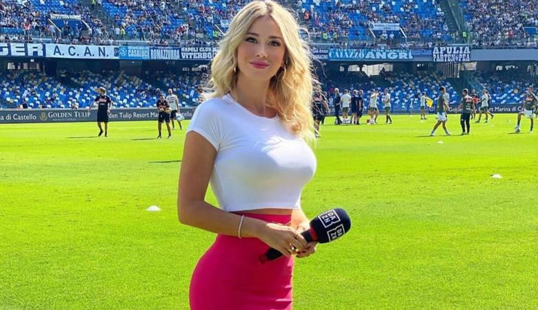 Włosi są nią zachwyceni... Czarująca Diletta Leotta już od paru lat umila widzom transmisje meczów Serie A i B. Jest zawsze świetnie przygotowana do