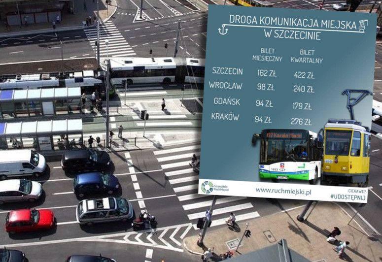 Dlaczego w Szczecinie spada liczba pasażerów?- Ceny biletów miesięcznych i trzymiesięcznych w Szczecinie należą do najwyższych w Polsce, to główny powód
