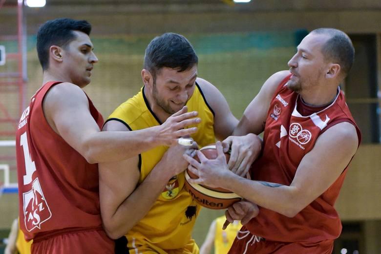 Żubry w tym sezonie na wyjeździe wygrały dwa razy. Na zdjęciu Marcin Monach w meczu z AZS ŁKS Łódź.