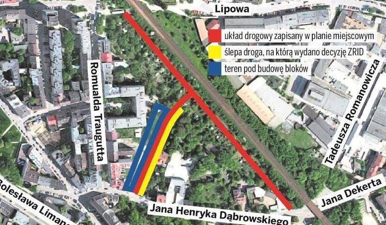 Ulica Dąbrowskiego. Deweloper Artur S. wpłacił na kampanię prezydenta Jacka Majchrowskiego w 2010 roku 19 tys. 800 zł. Później z prezydenckimi urzędnikami