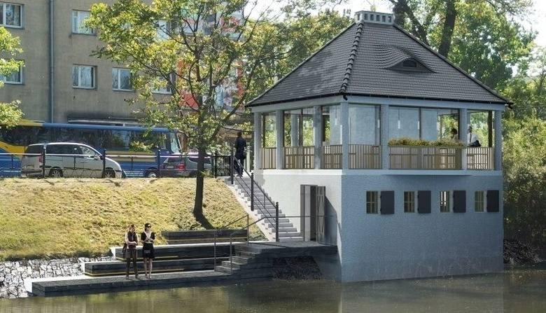 Tak ma wyglądać Cafe Berg wraz z tarasem na fosie miejskiej