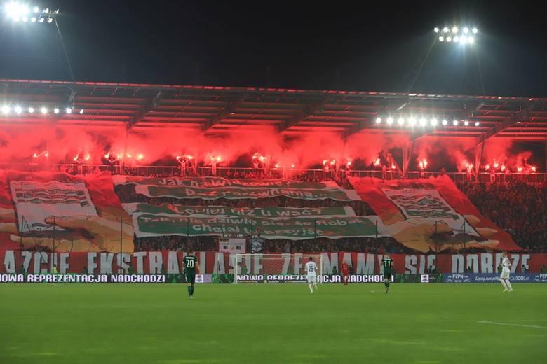 Zadymy na meczu piłkarzy Widzewa ze Śląskiem Wrocław. 27 osób zatrzymanych  [ZDJĘCIA]
