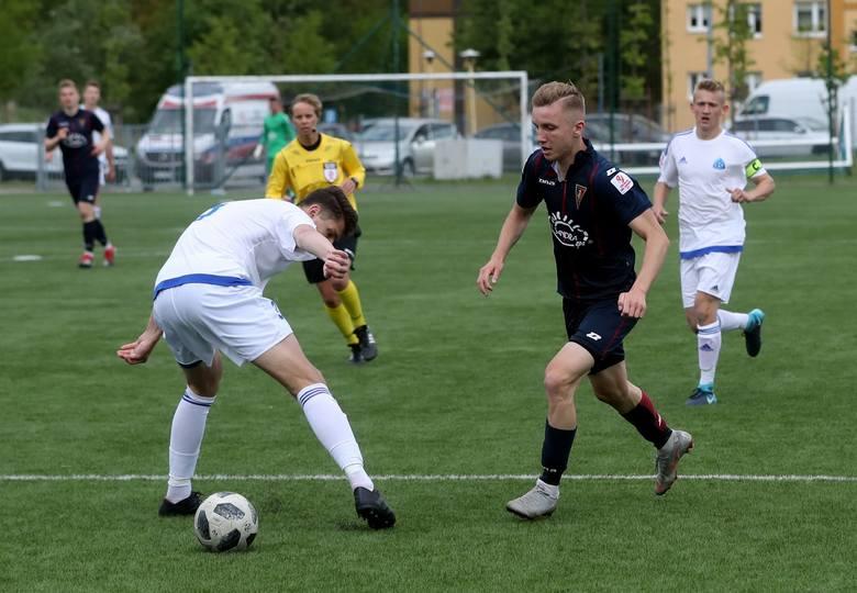 Piotr Łęczyński podczas meczu juniorów starszych Pogoni Szczecin z Ruchem Chorzów.