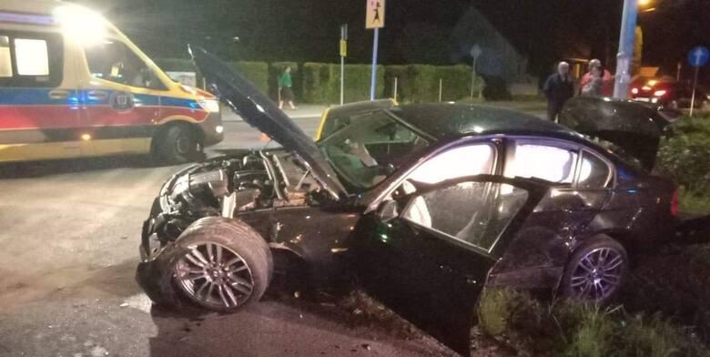 Wypadek w na pętli autobusowej w Piekarach w gminie Liszki