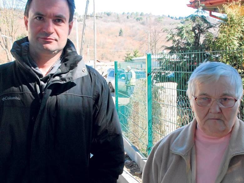 Mieszkańcy domu zapowiadają, że  będą walczyć o swoje. Na zdjęciu Witold Szurkiewicz i Elżbieta Szatan