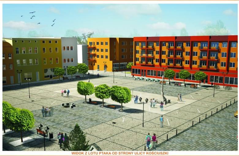 Tak będzie wyglądał Rynek w Oleśnie. Widok od strony ulicy Kościuszki