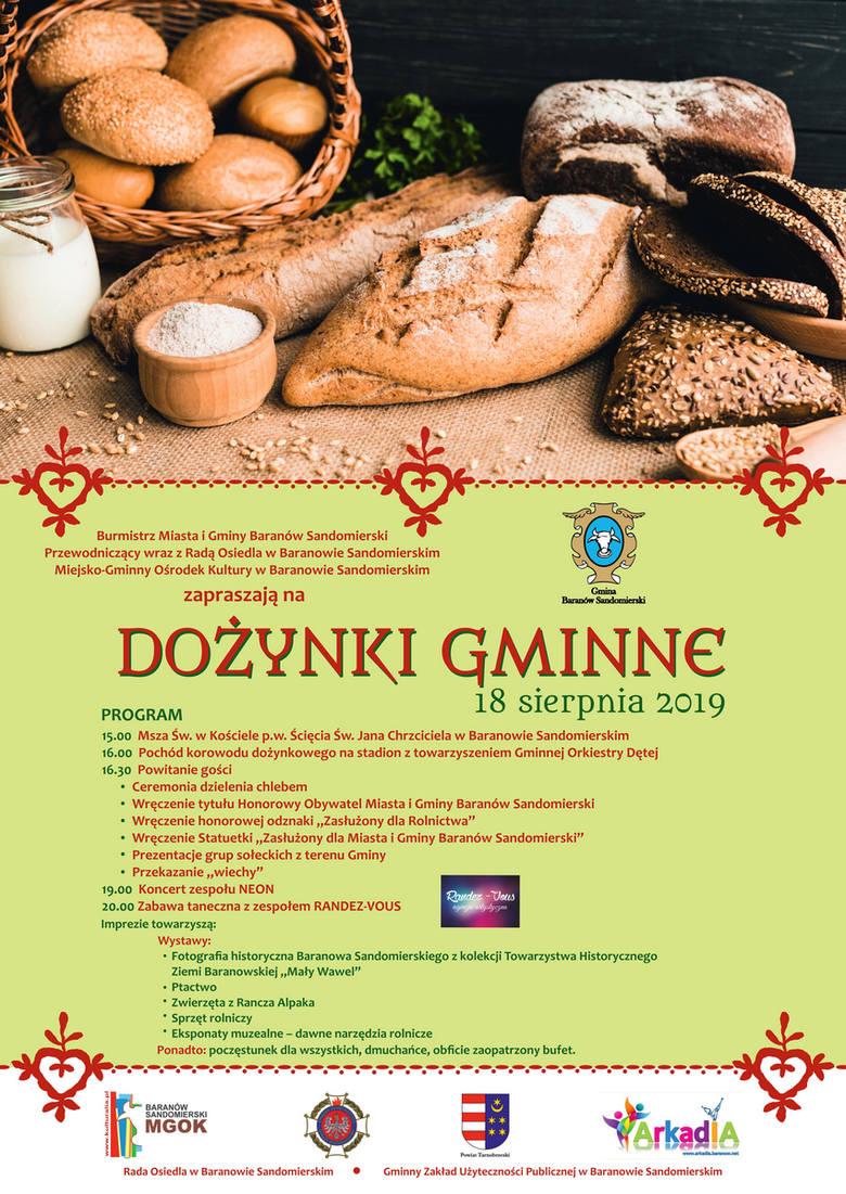 Święto Chleba w Baranowie Sandomierskim w niedzielę: koncert, wystawy i pokazy
