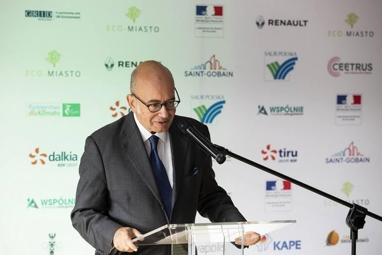 Pierre Levy, ambasador Francji w Polsce na konferencji Innowacyjne Eco-Miasto