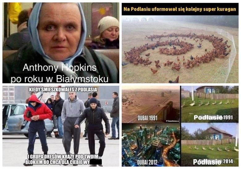 Memy o Podlasiu 2019. Nowe memy, które szkalują Podlasie: Anthony Hopkins po roku w Białymstoku i inne śmieszne obrazki [MEMY 2019]