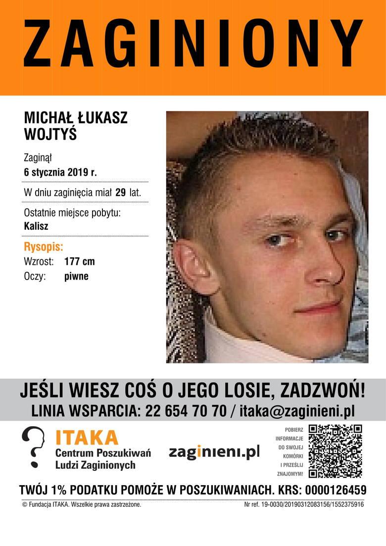 Michał Łukasz WojtyśAktualny wiek: lat 29Wzrost: 177 cmKolor oczu: piwneOstatnie miejsce pobytu: Kalisz