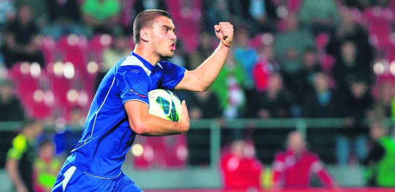 Konrad Kaczmarek w meczu z Cracovią zdobył dwa gole.