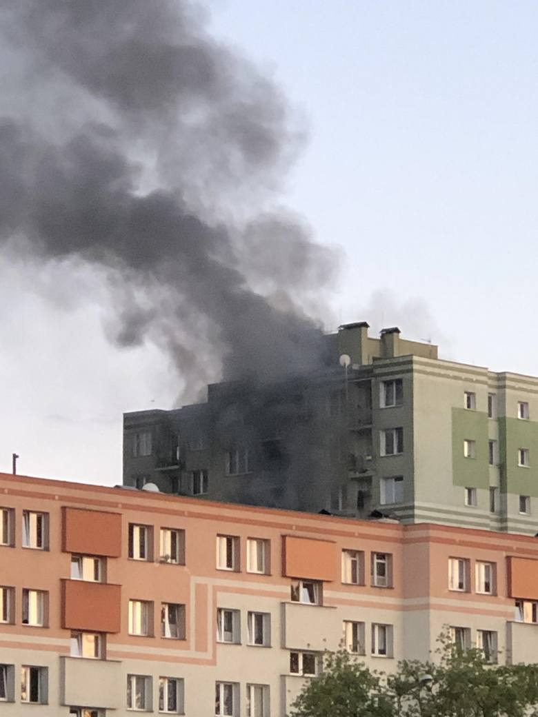 Z relacji świadków wynikało, że dym unoszący się nad Wyszyńskiego było widać aż z wiaduktu przy Tesco. W wyniku wybuchu, ludzie zostali ewakuowani ze