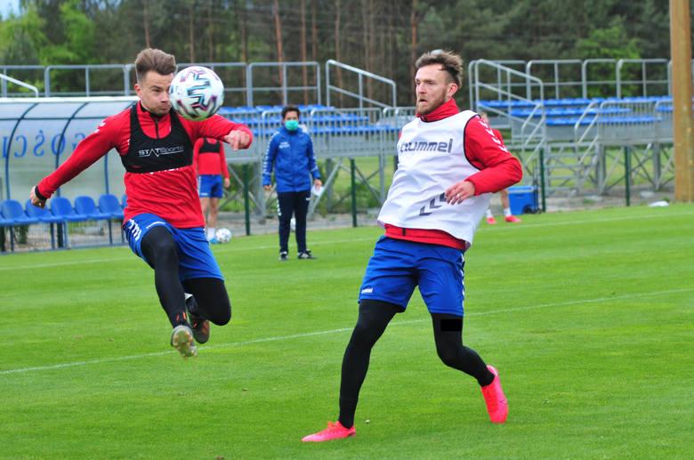 Piłkarze Rakowa przed wznowieniem rozgrywek wyjechali na dwa zgrupowania do Woli Chorzelowskiej i Sochocina. Zobacz kolejne zdjęcia. Przesuwaj zdjęcia