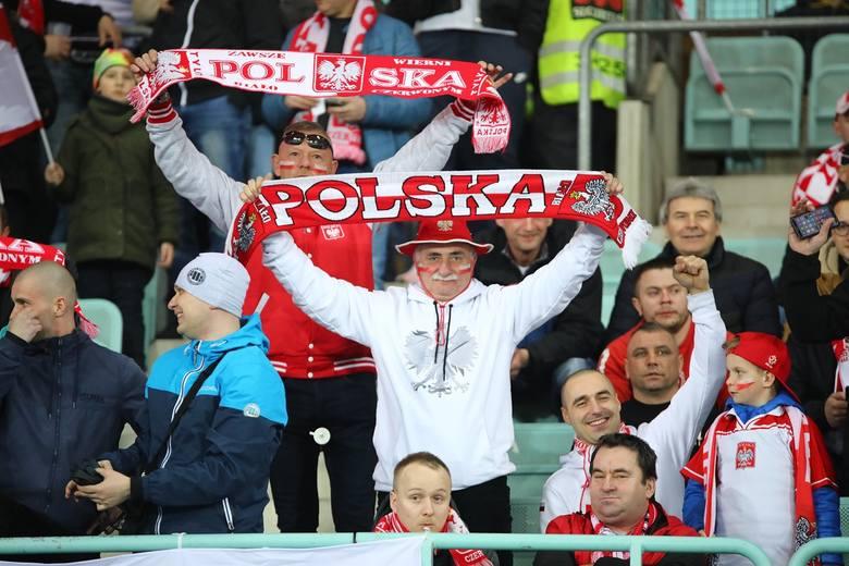 Kibice na meczu Austria - Polska 0:1