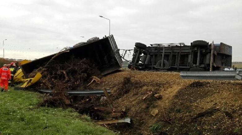 Wypadek na obwodnicy Jędrzejowa
