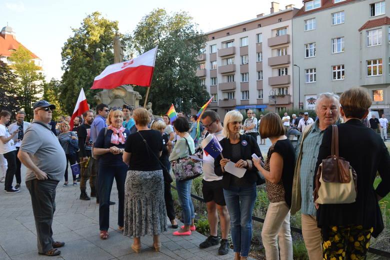Opole, 3 lipca 2018. Protest w obronie Sądu Najwyższego.
