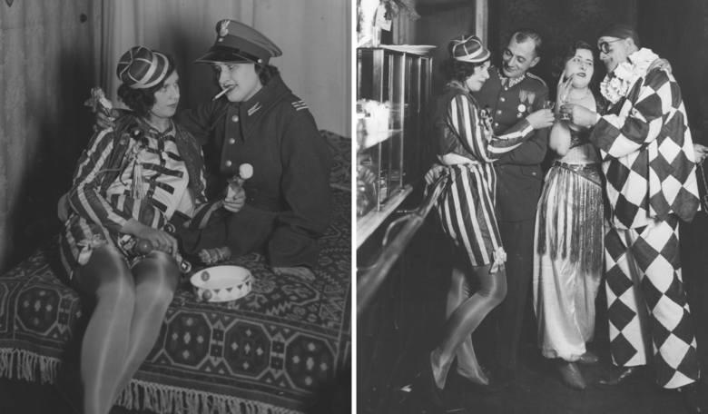 1932Zabawa karnawałowa w Warszawie.Mówi się, że nigdy wcześniej ani nigdy później nie było tak wystawnych balów, jak w międzywojennej w Polsce.