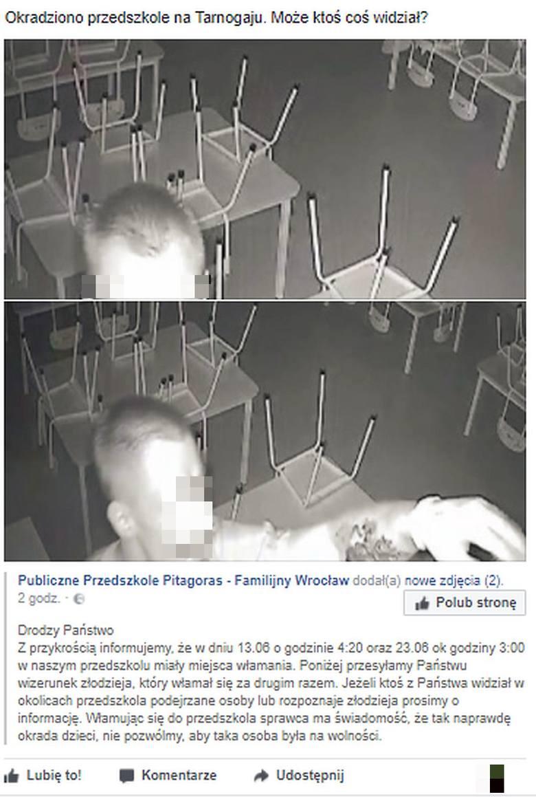 Włamanie do przedszkola na Tarnogaju. Złodziej ukradł pieniądze z pikniku