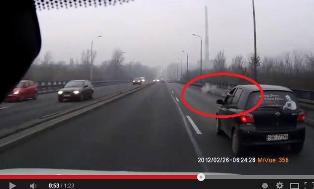 Szalony kierowca z Będzina