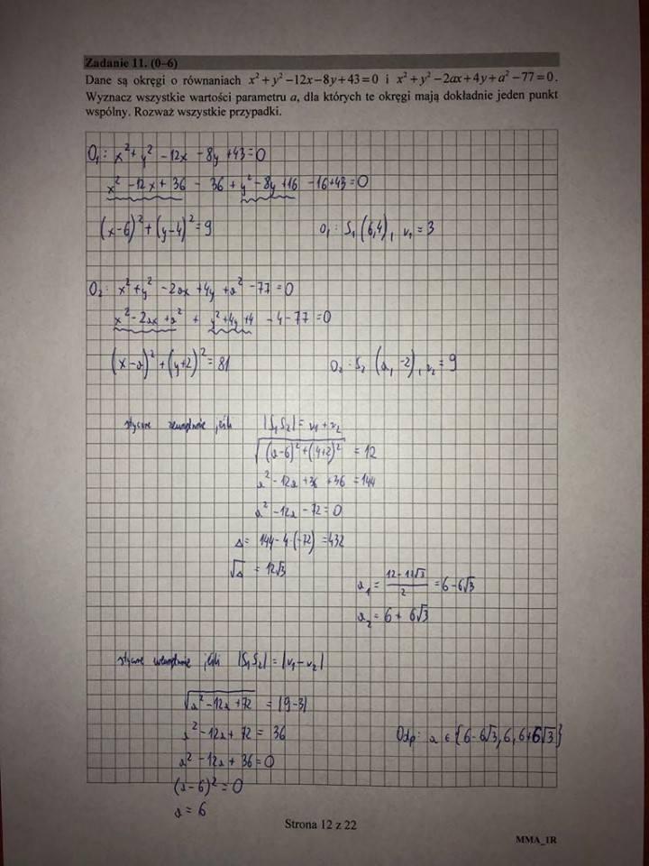 matura z matematyki maj 2021