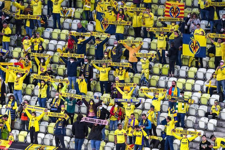 Fani Villarrealu na meczu w Gdańsku w środę, 26.05.2021 r.