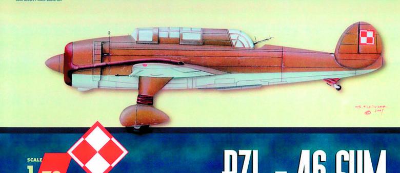 "Prototyp  lekkiego bombowca PZL-46 ""Sum"""