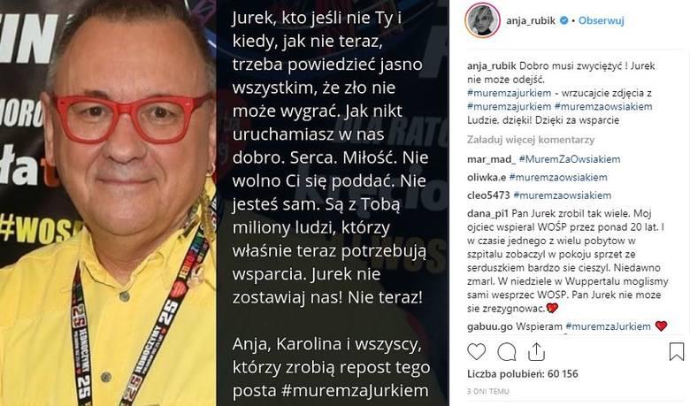 """Mocne apele ludzi kultury i najbliższych prezydenta Adamowicza o WOŚPIE. """"Jurku, zmień swoją decyzję i graj z nami dalej!"""""""