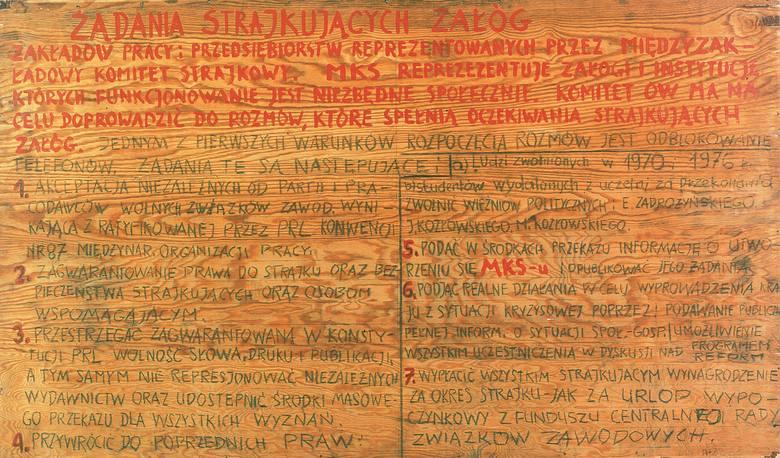 Replika 21 postulatów gdańskich 1 - 7.