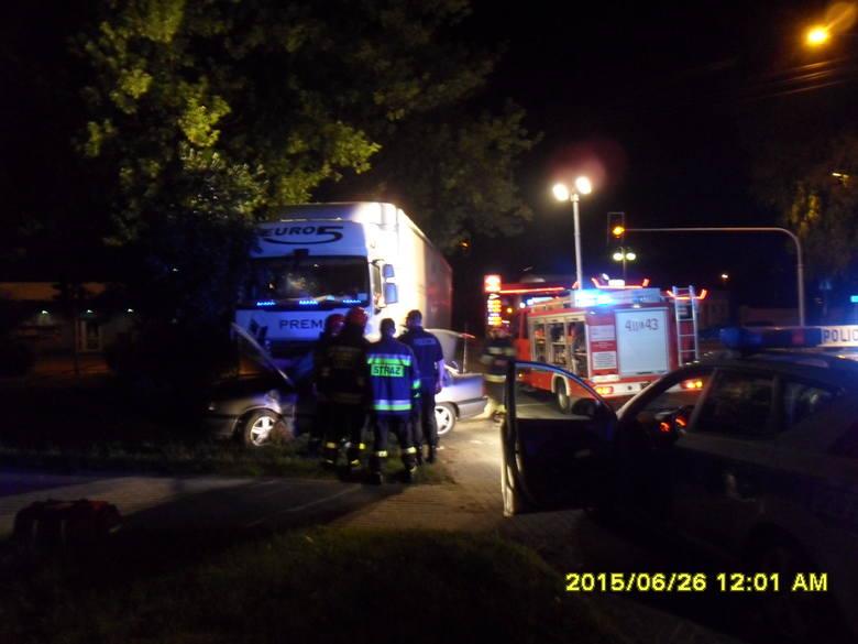 Wypadek w Brzezinach