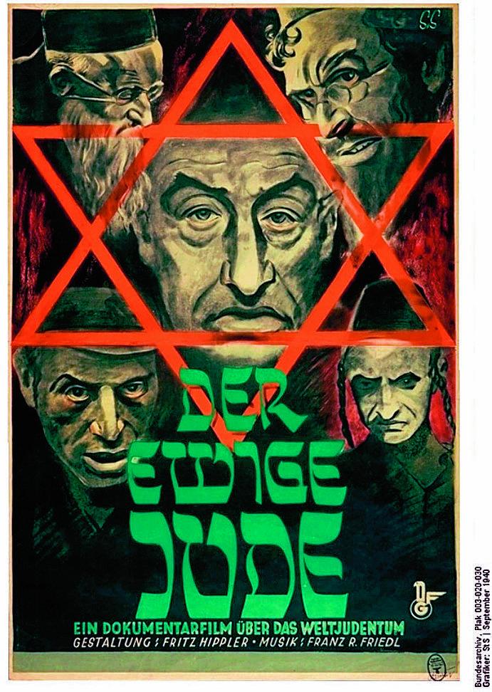 Jednym z elementów antysemickiej nagonki była propaganda - plakaty, gazety, filmy straszyły Żydami, zohydzały ich, porównując m.in. do pasożytów