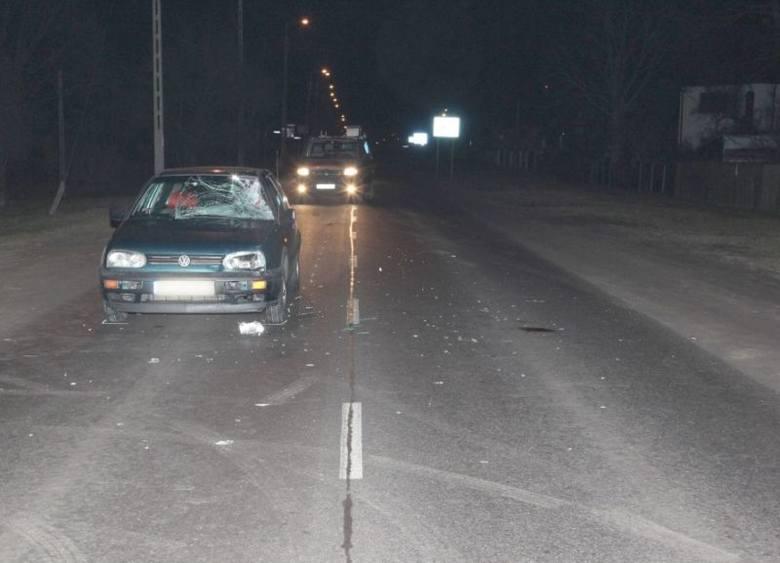 Poszukiwany 30-latek wpadł pod samochód