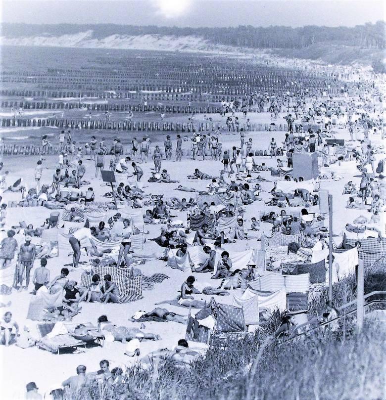 Lato 1972, plaża wschodnia w Ustce