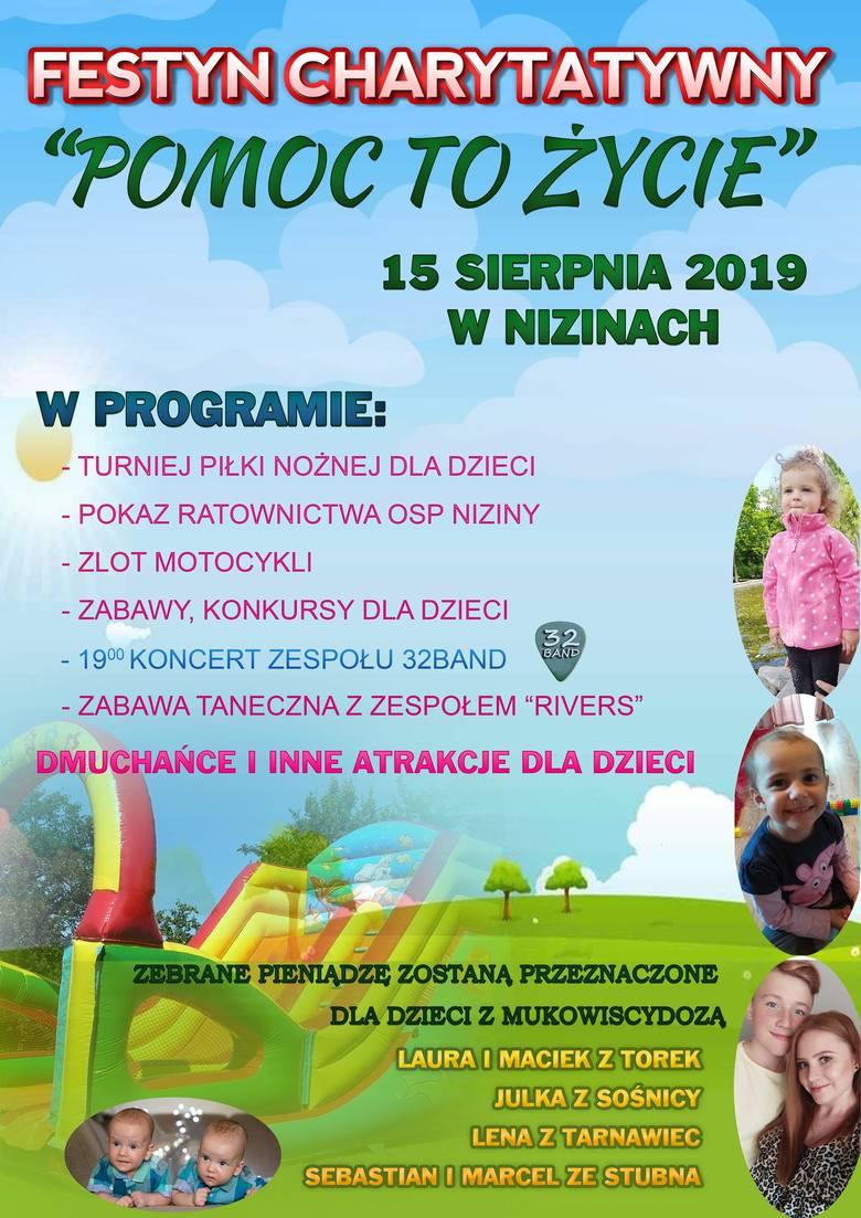 Festyn w Nizinach dla dzieci chorych na mukowiscydozę
