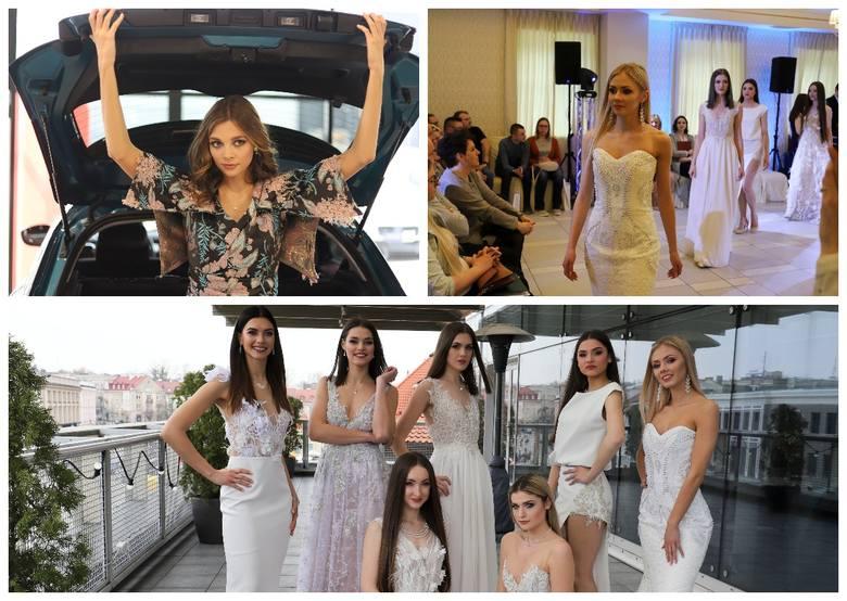 Kandydatki do tytułu Miss Podlasia 2019 uczestniczyły w dwóch pokazach prezentujących suknie dwóch białostockich projektantek.