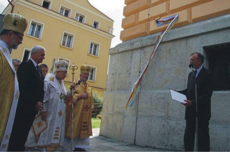 Czerwiec 2013 r. Uroczystość odsłonięcia nazwy ul. bł. bpa Jozafata Kocyłowskiego w Przemyślu, z udziałem m.in. ówczesnych władz miejskich.