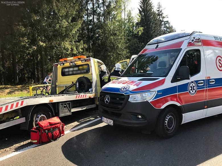 Wypadek na drodze Białystok - Supraśl, 10.05.2020