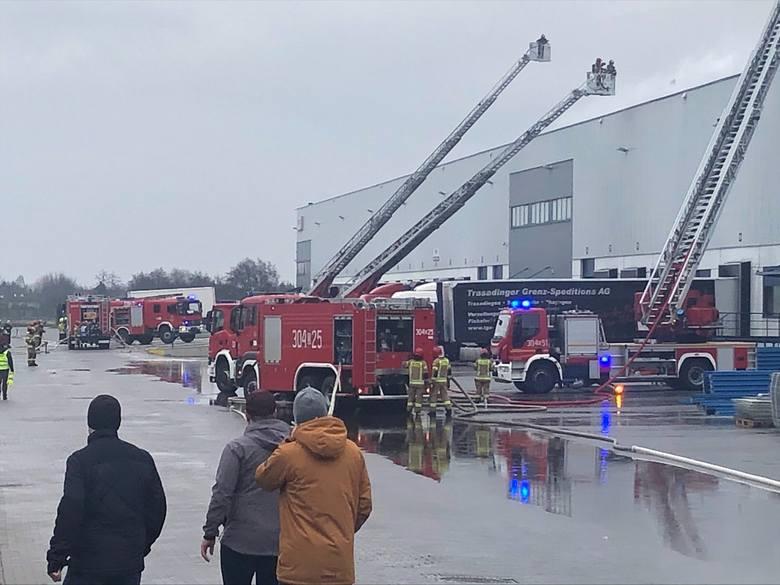 Pożar w Bielanach Wrocławskich 17.04.2021