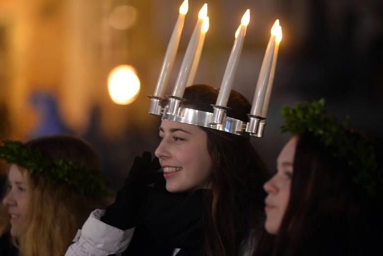 Orszak św. Łucji co roku dociera też do Gdańska