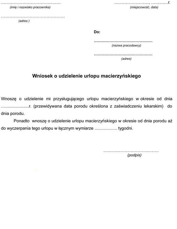 Urlop Macierzyński 2019 Jak I Gdzie Złożyć Wniosek O Urlop