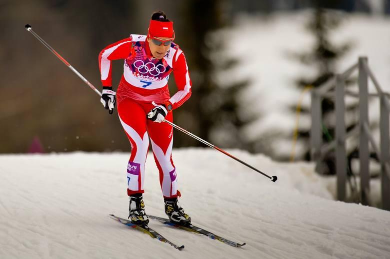 Sylwia Jaśkowiec na trasie biegu w Soczi