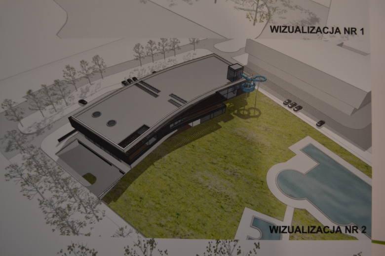 Wizualizacja aquaparku opracowana na potrzeby programu funkcjonalno-użytkowego