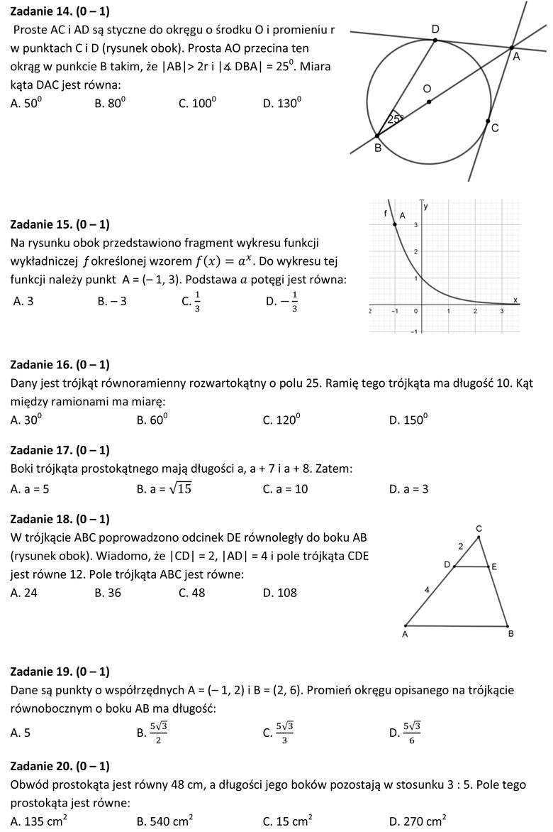 Matura próbna 2020 z matematyki. Rozwiąż zadania, sprawdź swoją wiedzę. Zdaj maturę z Nowinami