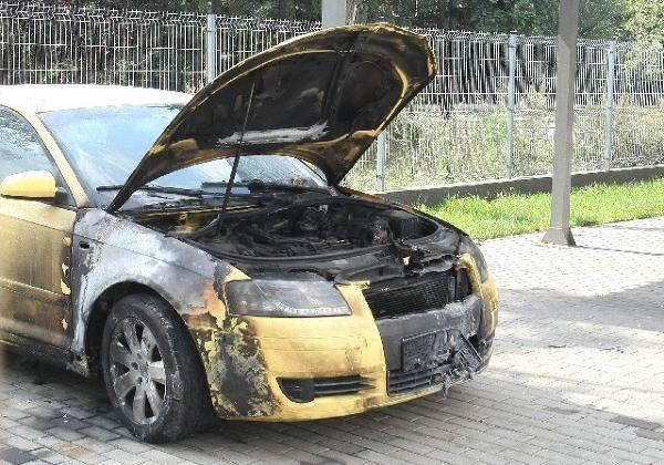 Tak wyglądało po pożarze auto policjantki.<br><br><br>