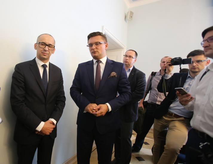 Kazimierz Karolczak, szef śląsko-zagłębiowskiej metropolii, i Marcin Krupa, przewodniczący zgromadzenia