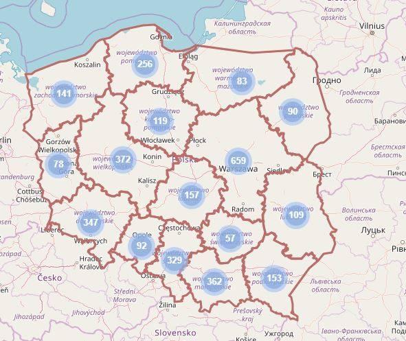 Mapa Żłobków przedstawiona przez  Ministerstwo Rodziny, Pracy i Polityki Społecznej jest łatwa w obsłudze.