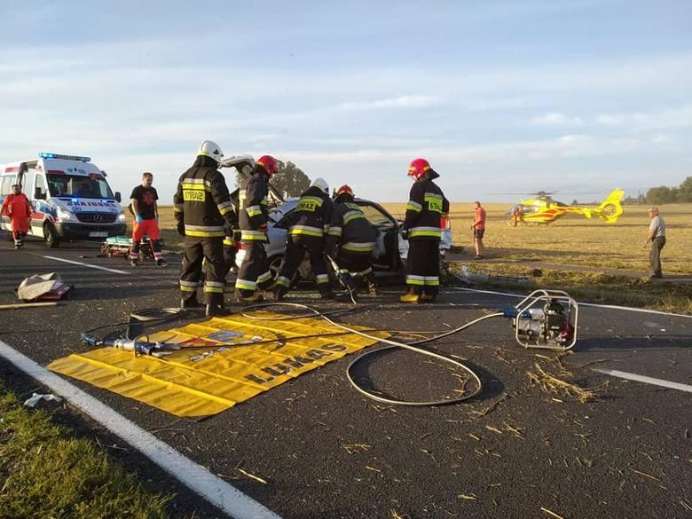 Osiem osób, w tym dwoje małych dzieci zostało poszkodowanych w wypadku, do którego doszło w Kotomierzu pod Bydgoszczą. W piątek (9 sierpnia) około godz.