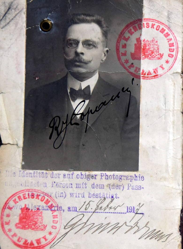 Paszport Ruperta Jana Łopacińskiego, brata Hieronima.